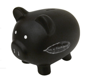 Chalk-board piggy bank$13 @ TARGET