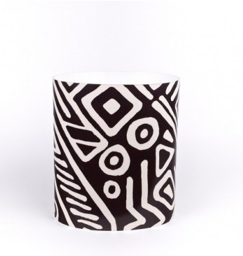 Fabric Laminate Wastebasket (in various fabrics) $80 at SISTER PARISH DESIGN
