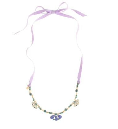 Jeweled Ribbon Necklace $32.50 at J.CREW