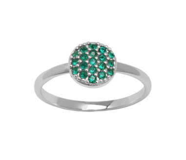 Green Crystal Ring $20 sale at JCPENNY
