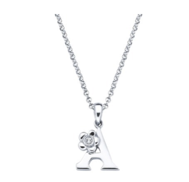 Little Diva Diamond & Sterling Initial Pendant (All Letters Available) $50 at TARGET