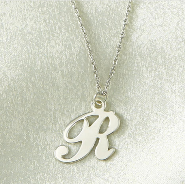 Sterling Silver Initial Pendant $55 at LILIIAN VERNON