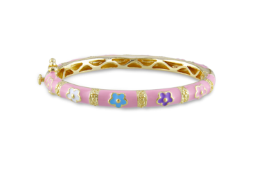 Goldplated Silver Enamel Bangle $79 at OVERSTOCK