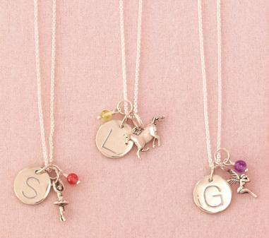 Personalized Charm Necklaces $89 at POTTERY BARN KIDS