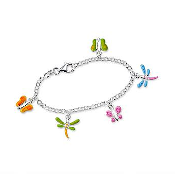 Sterling & Enamel Butterfly Bracelet $34 sale at ROSS SIMONS