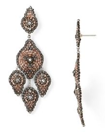 Miguel Ases Swaroski Beaded Earrings$270 @ BLOOMINGDALES