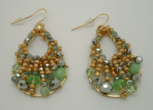 Jasmine Crystal Earrings$30 @ ENVIOUS GEMS