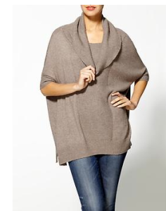 Hive & Honey Cowl Neck Poncho$49 @ PIPERLIME
