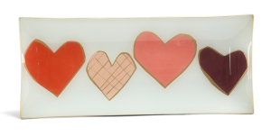 Four of A Kind Hearts Tray$125 @ MITCHELL GOLD