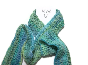 Cotton Crochet Scarf by Lynnes Knitted Goodies$50 @ ETSY