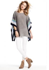 Tamsin Striped Cashmere Poncho Sweater$375 @ CALYPSO BARTH
