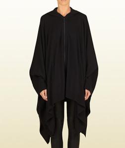 Women's Black cashmere poncho sweater$1650 @ GUCCI Viaggio Collection