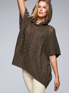 Cable Poncho Sweater$39 (from $69) @ VICTORIA'S SECRET