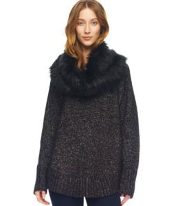 Black Shimmery Poncho Fur Sweater$150 @ MICHAEL KORS