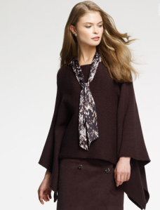 Boat Neck Poncho Sweater$69 (From $139) @ ANNE KLEIN