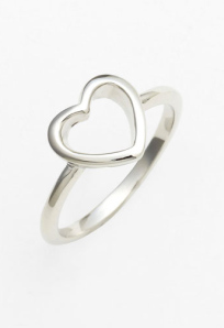 Heart Silver Ring$16 @ NORDSTROM