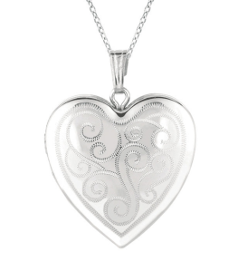 Sterling Silver Heart Locket Necklace$54 @ OVERSTOCK