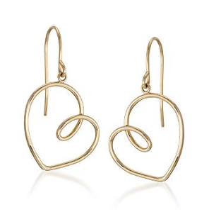 Gold Heart Earrings$150 (from $395) @ ROSS SIMONS