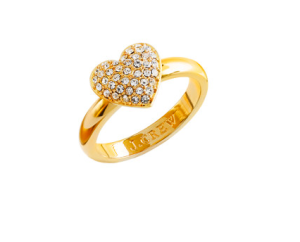 Pave Gold-tone Heart Ring$45 @ J CREW