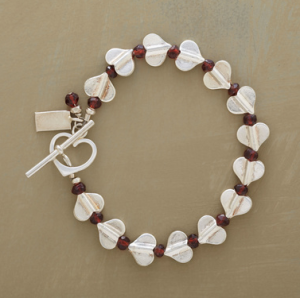 Silver Heart Parade Bracelet with Garnets$98 @ SUNDANCE CATALOG