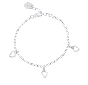 Sterling Silver 3-Heart Drop Chain Bracelet$90 @ BROOKS BROTHERS