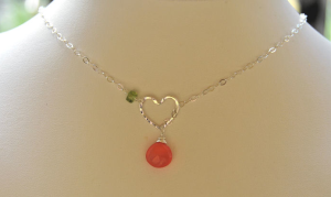Sterling Silver Heart Lariat Necklace$40 @ ALISON EASTMAN  BRITT DESIGN