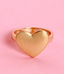 Heart Ring Gold-tone$10 @ LULU'S