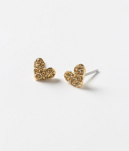 Gold-plated Heart Stud Earrings$32 @ ANTHROPOLOGIE