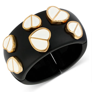 Bestey Johnson Black tone Heart Stretch Bracelet$85 @ MACYS