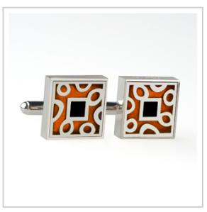 Copper Silver Cufflinks$185 @ VICTORIA VARGA