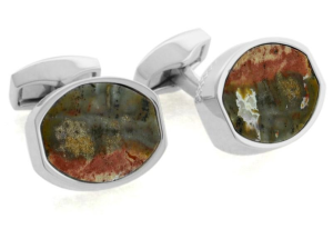 Fossilized Wood Cufflinks$195 @ TATEOSSIAN