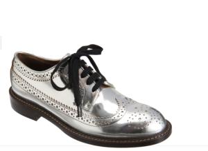 Marni Metallic Oxford Shoes$685 @ BARNEYS