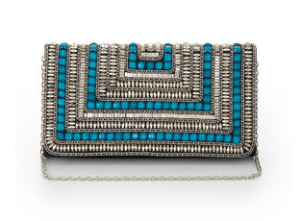 Dera Tribal Beaded Clutch Bag$208 @ BCBG