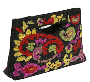 Moyna Beaded Clutch Purse$108 @ EBAGS