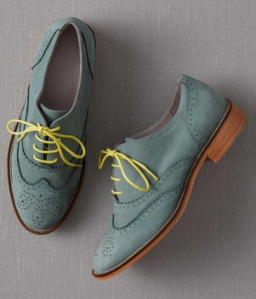 Suede Brogue Oxford Shoes (green, grey or brown)$168 @ BODEN