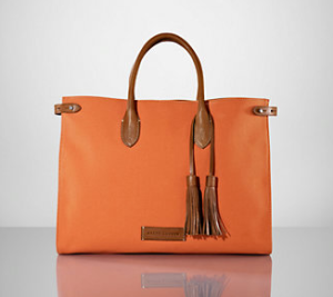 Canvas-Leather TasselTote ($395)RALPH LAUREN