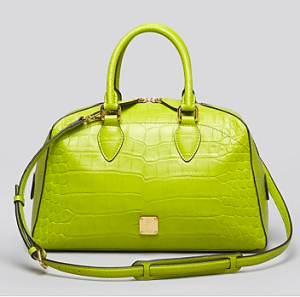 MCM Croco Boston Satchel Bag ($875)BLOOMINGDALES