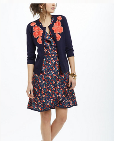 Firebloom Cardigan  $128 ANTHROPOLOGIE
