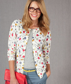Printed Cardigan Sweater  $98  BODEN