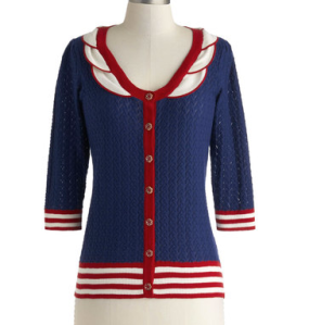 Ferry Nautical Cardigan Sweater ($95)MODCLOTH