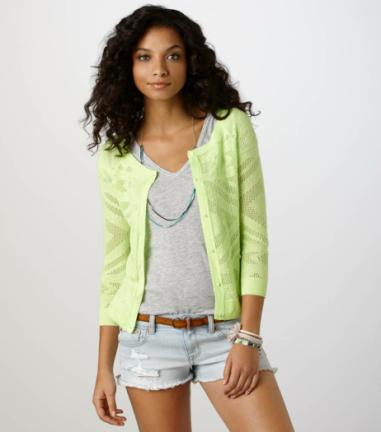 AE Open Stitch Cardigan Sweater  $35 AMERICAN EAGLE AE