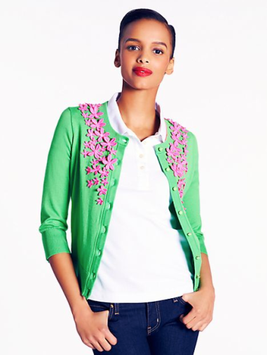 Lace Flower Cardigan Sweater  $298 KATE SPADE