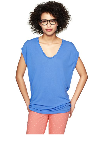 Twisted Neckline T-Shirt ($17.50 w/ coupon)
