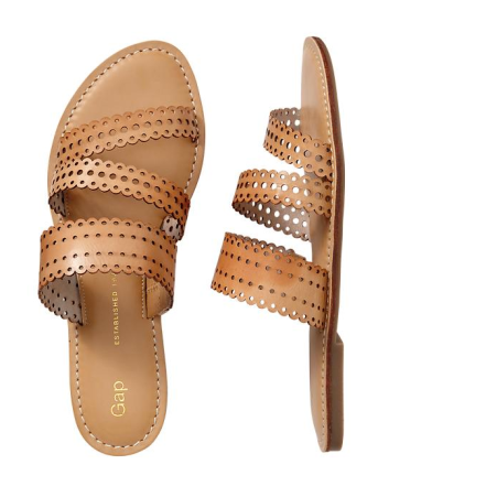 Perforated Strappy Sandals ($28 w/ coupon)