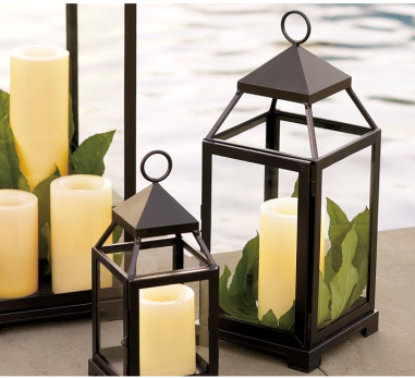 Bronze Malta Lantern (Small or Medium) Pottery Barn ($23 & $31 on sale, with free shipping)