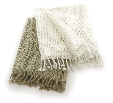 Summer Open Weave Throw Blanket CRATE & BARREL ($49 on sale for $15 with $5 shipping)