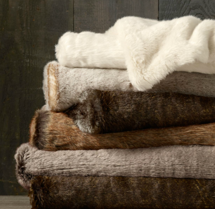 Luxe Faux Fur Throw Blanket $79 (was $99)
