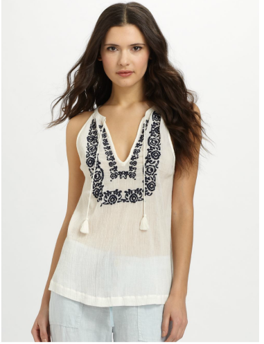 Joie Chutney Embroidered Top $158 @ SAKS