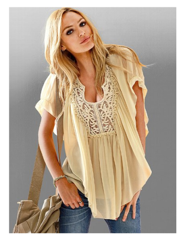 Embroidered Sheer Blouse $49 @ VICTORIA'S SECRET