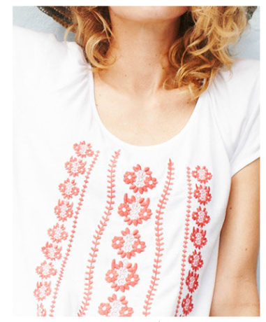 Maya Embroidered Knit Top $58 @ GARNET HILL
